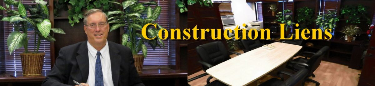 Construction Attorney Herbert Allen's construction law guide to construction liens.
